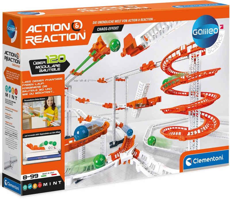 Clementoni® Kugelbahn-Bausatz »Galileo Action & Reaction Chaos Effekt«, Made in Europe