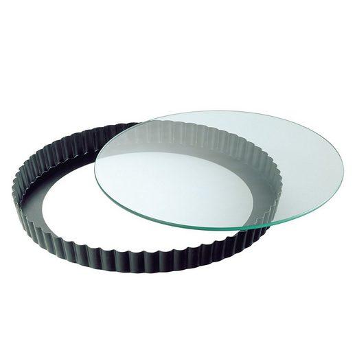 Kaiser Backformen Backform »Quicheform mit Glas-Hebeboden ø 28 cm Crystal«