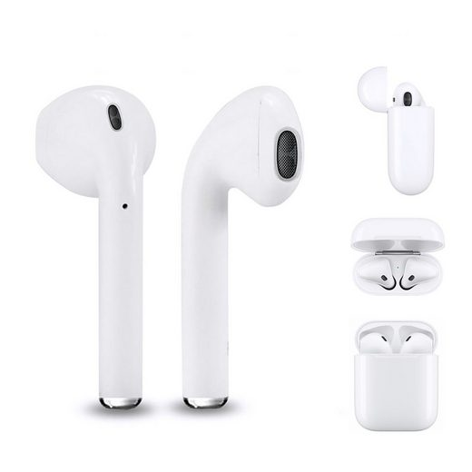 Leicke »Twin Mini Qi« True-Wireless In-Ear-Kopfhörer (Siri, Google Assistant, Bluetooth, mit praktischer Ladestation, QI Wireless Charging, Reichweite 10m)