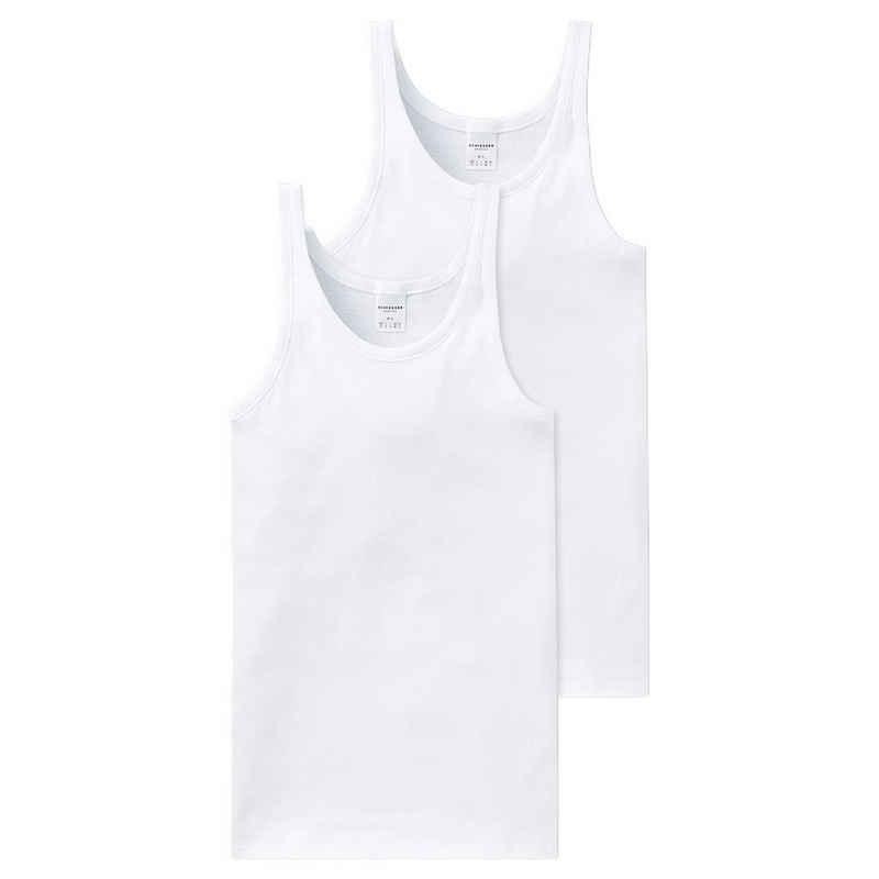 Schiesser Unterhemd »2er Pack Cotton Essentials Feinripp« (2 Stück), Unterhemd - Besonders strapazierfähig und langlebig, Hoher Tragekomfort, In hochwertiger, bequemer Feinripp-Qualität