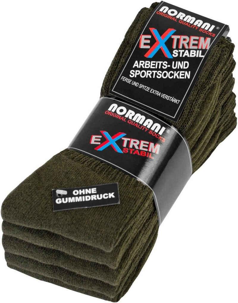 normani Tennissocken »5 Paar Arbeits- und Sportsocken Extrem« (5 Paar) atmungsaktiv und klimaregulierend