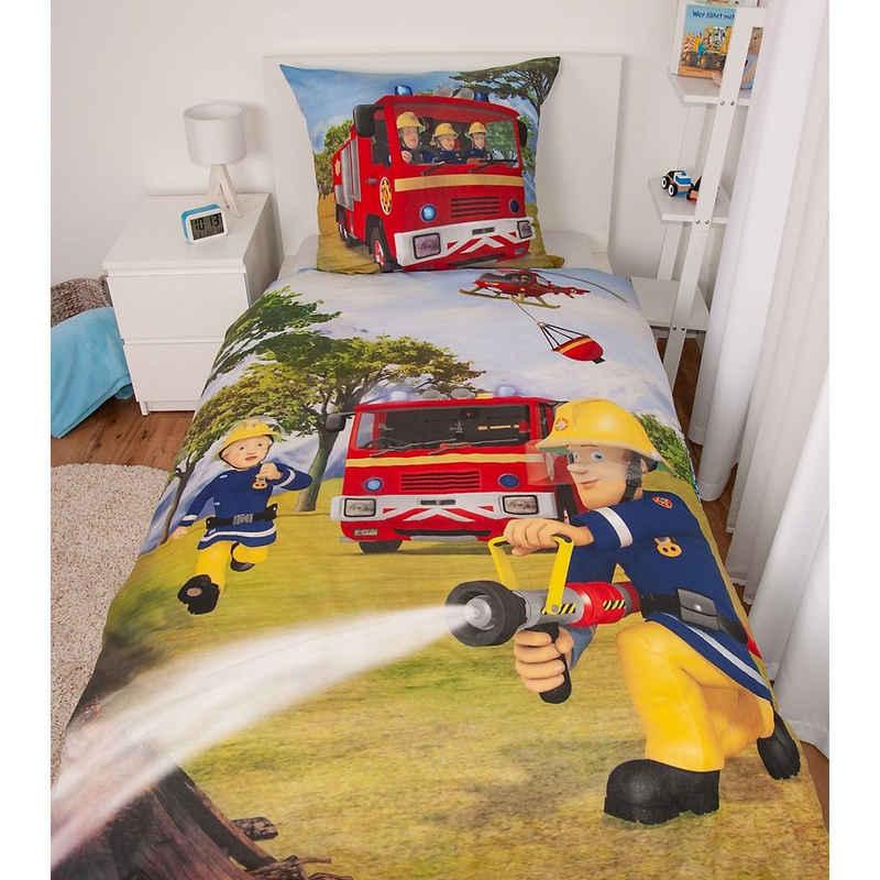 Bettwäsche »Bettwäsche Feuerwehrmann Sam, Renforcé, 135 x 200«, Herding