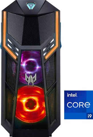 Acer Predator Orion 5000 (PO5-625s) Gaming-PC (Intel® Core i9 11900K, RTX 3080, 32 GB RAM, 3000 GB HDD, 1024 GB SSD, Luftkühlung)