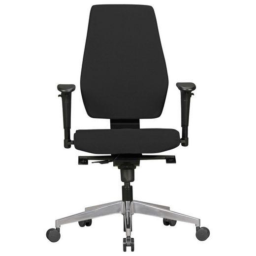 Amstyle Chefsessel »SPM1.280« Bürostuhl DARIUS mit Stoff-Bezug in Schwarz Design Schreibtisch-Stuhl mit Synchromechanik & Armlehnen Drehstuhl Drehsessel ergonomisch 120 kg