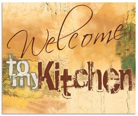 Artland Küchenrückwand »Willkommen in meiner Küche«, (1-tlg)