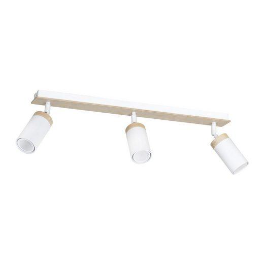 Licht-Erlebnisse Deckenstrahler »NAPO Spot Strahler Weiß Holz skandinavisch Decke Wohnzimmer Lampe«