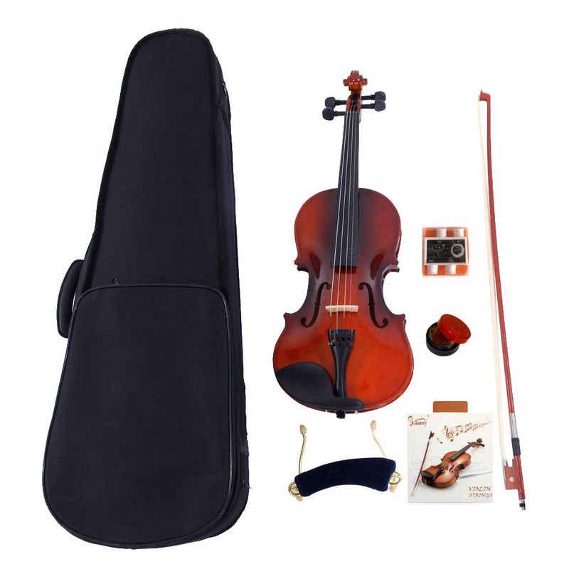Glarry Violine »GV100 1/4 Violinenset«, GEIGE mit Koffer Kinnstütze Kolofonium