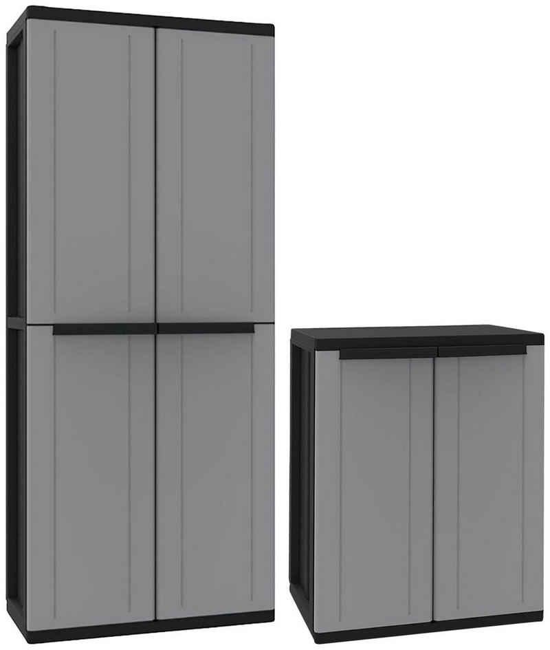 Kreher Mehrzweckschrank B/T/H: 68x37,5x85-163,5 cm, abschließbar