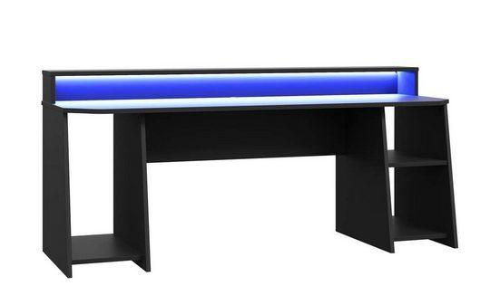 FORTE Gamingtisch »TEZAUR 5B Gaming Desk Computertisch mit LED-Beleuchtung, von Forte«
