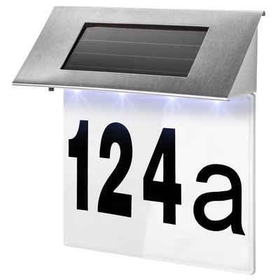 tectake Wandleuchte »Solar Hausnummerleuchte«
