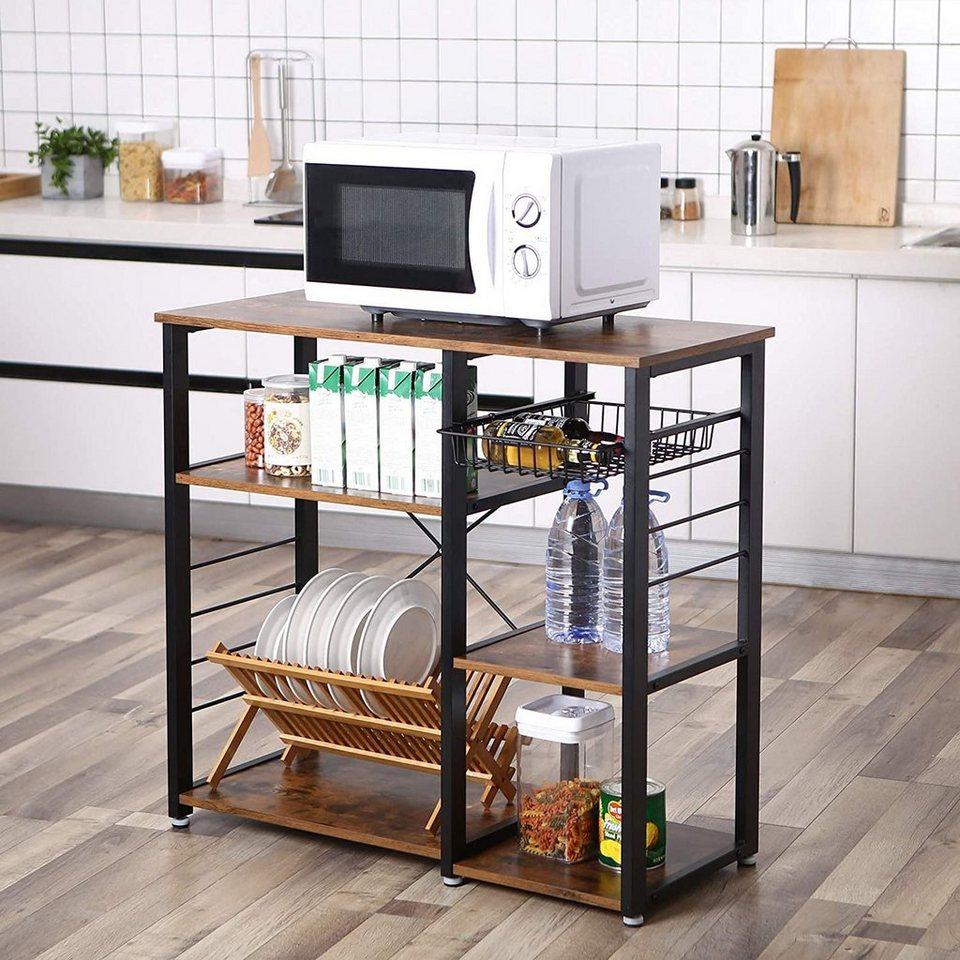VASAGLE Küchenregal »KKS10X«, Standregal, Mikrowellenregan, vintage online  kaufen  OTTO