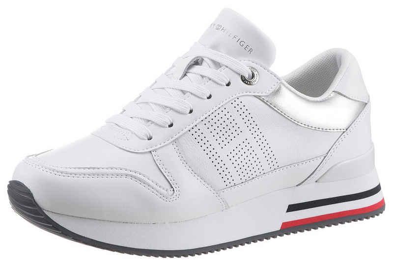 Tommy Hilfiger »CORPORATE ACTIVE CITY SNEAKER« Keilsneaker mit feinem Lochmuster