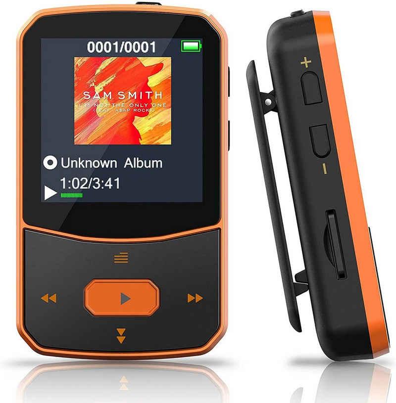 vokarala MP3-Player (MP3 Player Bluetooth 5.0 Sport 16 GB, Verlustfreier Hochauflösender Digitaler Ton, Tragbarer Audioplayer)