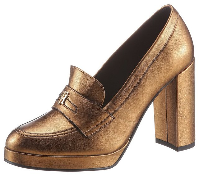 TOMMY HILFIGER »TOMMY POLISHED HIGH HEEL PUMP« High-Heel-Pumps in glänzender Optik | Schuhe > High Heels > High Heel Pumps | Tommy Hilfiger