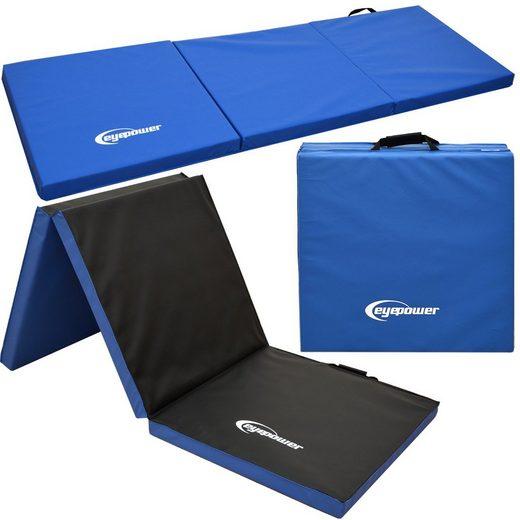eyepower Fitnessmatte »XL Gymnastikmatte Sport-, Turn- und Bodenmatte«, Weichbodenmatte blau