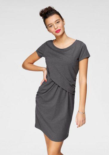 AJC Shirtkleid in trendiger Wickeloptik mit raffinierten Raffungen