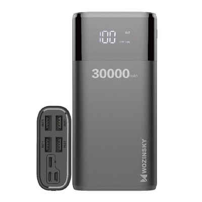 cofi1453 »Powerbank 30000mAh mit 4 Output USB Schnellladung Max 4A, Akkupack mit LED Anzeige Externes Ladegerät für Handy, Tablet, Smartphone« Powerbank 30000 mAh
