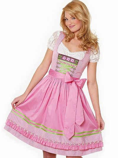 Moschen-Bayern Dirndl »Mini-Dirndl kurz Damen - Dirndl Mini Rosa Trachtenkleid Oktoberfest Wiesn-Dirndl 60 cm« (Dirndl mit Schürze (ohne Bluse) Dirndl, Mini, kurz, Trachtenkleid, kariert, Stickerei, Blumen