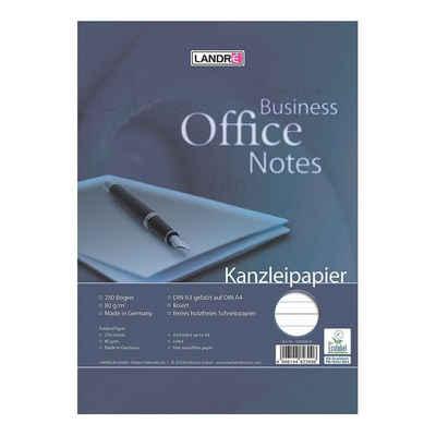 LANDRE Briefpapier »Office«, Kanzleipapier, Format DIN A3 auf A4, liniert ohne Rand, ungelocht