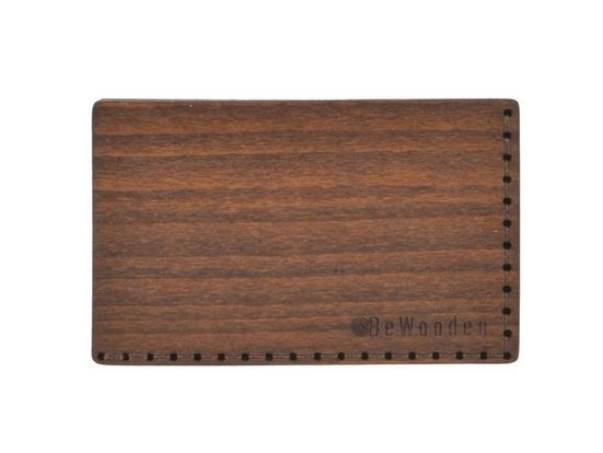 BeWooden Geldbörse »Kartenetui«, Kartenetui, Kartenbörse, Leder, Holz