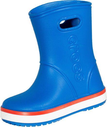 Crocs »Kids Crocband™ Rain Boot« Gummistiefel für Kinder, blau mit extra großem Einstieg