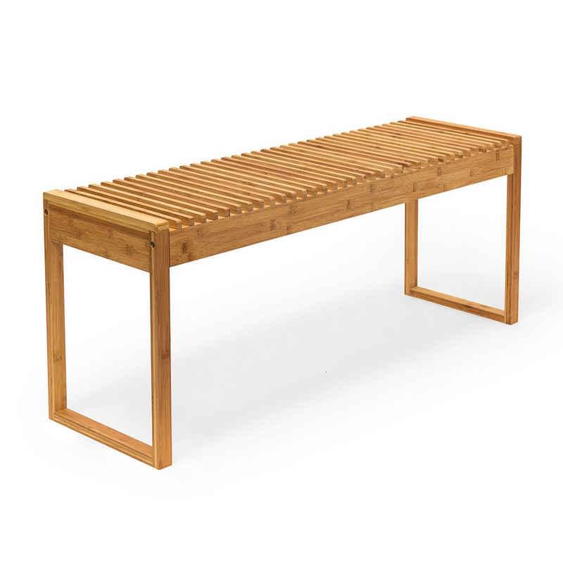 relaxdays Sitzbank »Sitzbank aus Bambus«