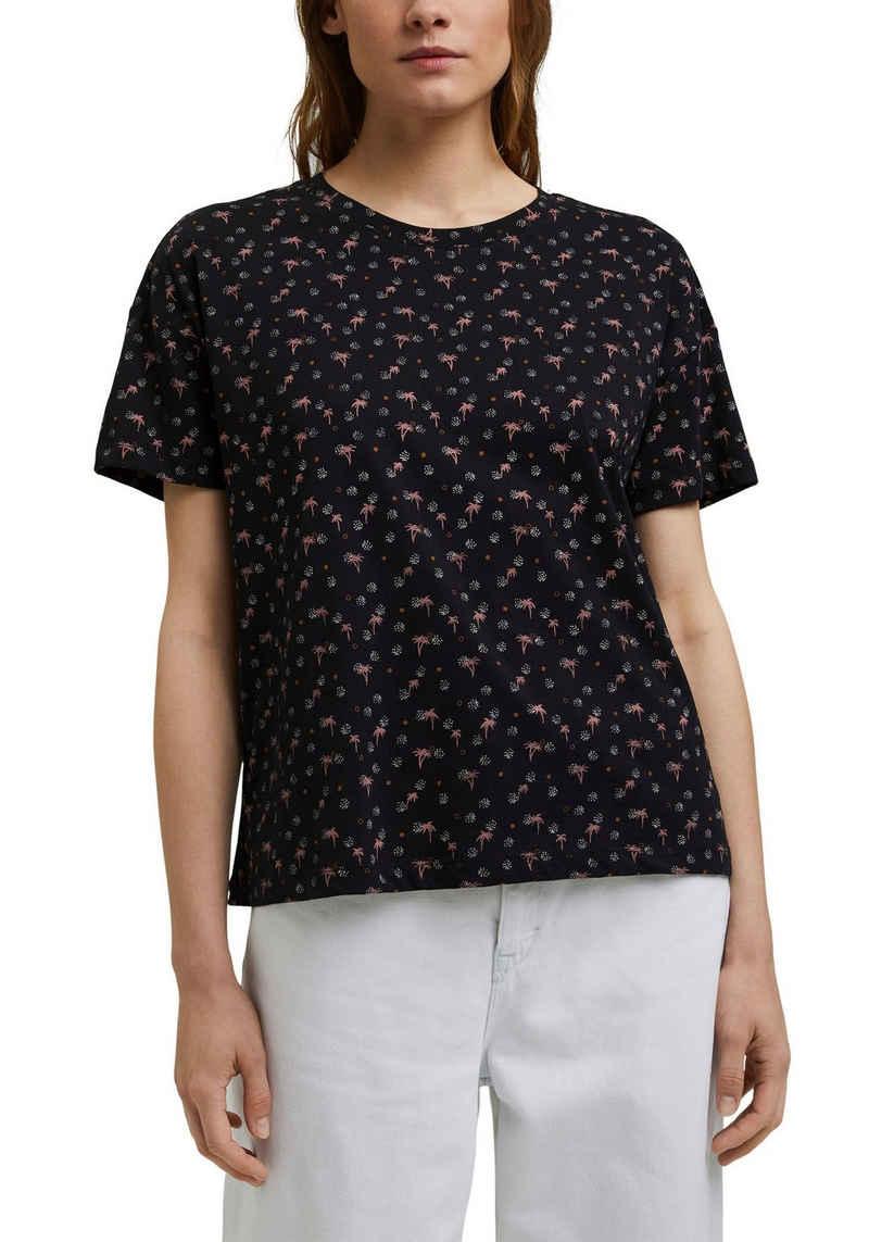 Esprit T-Shirt mit sommerlichem All-over-Print
