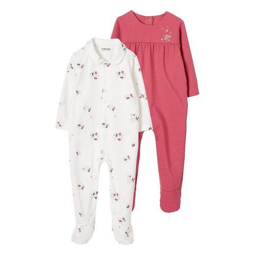 vertbaudet Schlafanzug »Baby Schlafanzug für Mädchen, Doppelpack«