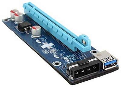Kolink »PCI-E x1 auf 16 x« Stromkabel, Powered Riser Karte, Mining/Rendering-Kit 60 Zentimeter Graphic Vertikale, Mini Halterung Bracket, Computerzubehör, Molex, Connector, Motherboard, Bitcoin Kryptowährungen