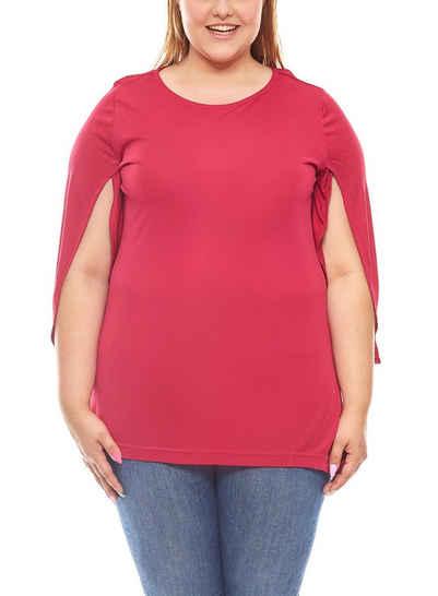 Apart Shirttop »APART Bluse Shirt Sommer-Tunika Große Größen Magenta«