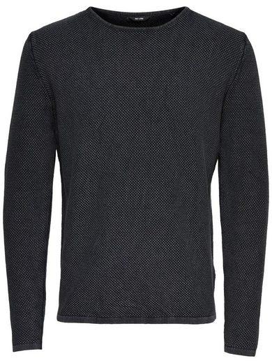 ONLY & SONS Strickpullover »HUGH LINE« mit 100% Baumwolle