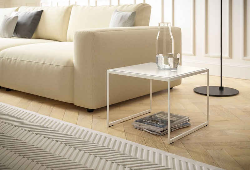 GALLERY M branded by Musterring Couchtisch »Toscana«, T 1506, Gestell reinweiss
