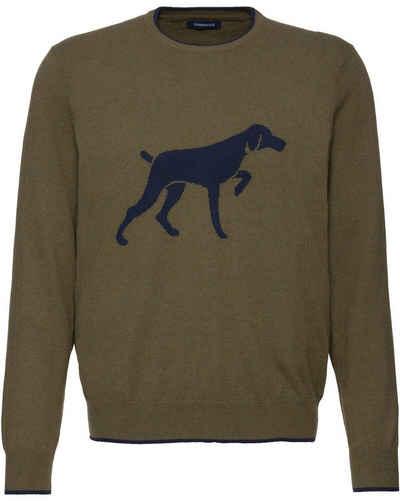 Highmoor Strickpullover »Rundhals-Pullover mit Hundemotiv«
