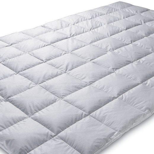 Daunenbettdecke, »ORIGINAL EIDERDAUNEN Winterdecke (Wärmegrad 6)«, Königin der Nacht, Füllung: 100% isländische neue Eiderdaunen, für Allergiker geeignet