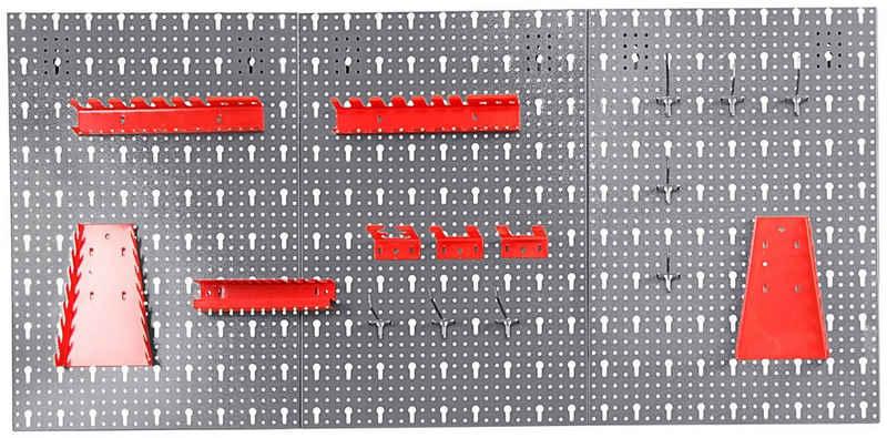 ONDIS24 Lochwand »Jochen«, 3 Stk., mit 22 Haken, BxTxH: 119,5x2,5x59,5 cm