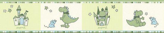 Esprit Bordüre »Kids Bordüre Dragon Castle«, strukturiert, gemustert, Comic, Motiv, mit Schrift, strukturiert