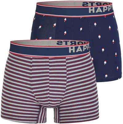 HAPPY SHORTS Trunk »2 Happy Shorts Pants Jersey Trunk Herren Boxershorts Eis am Stiel - Popsicle« (1 Stück)