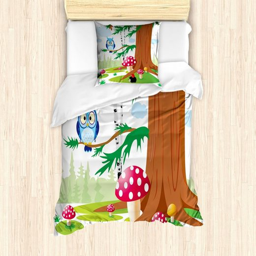 Bettwäsche »Milbensicher Allergiker geeignet mit Kissenbezug«, Abakuhaus, Igel Amanit Muscaria Forrest