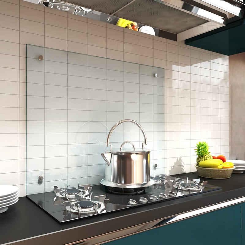 Mucola Küchenrückwand »Spritzschutz Klarglas Glasrückwand Fliesenspiegel Herdspritzschutz Herdblende aus ESG Glas Wandschutz«, (1-tlg), Inkl. Montagematerial