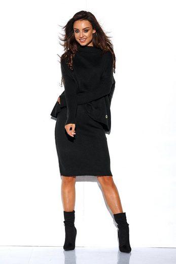 lemoniade Jerseykleid mit überschnittenen Ärmeln