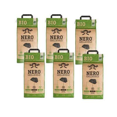 NERO Kohlekorb »BIO Grill-Holzkohle - 6 x 2,5kg Sack - Garantiert ohne Tropenholz - Holz aus Deutschland«