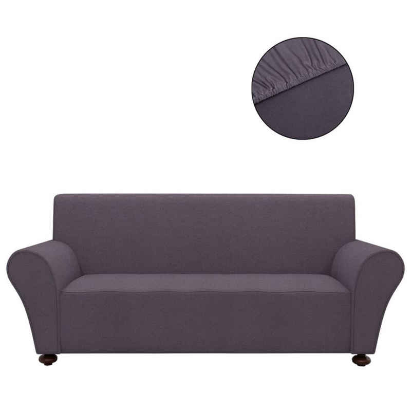 Hussen-Set »vidaXL Sofahusse Sofabezug Stretchhusse Anthrazit Polyester-Jersey«, vidaXL