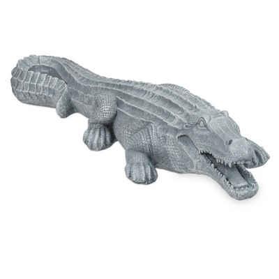 relaxdays Gartenfigur »Krokodil Deko für den Garten«