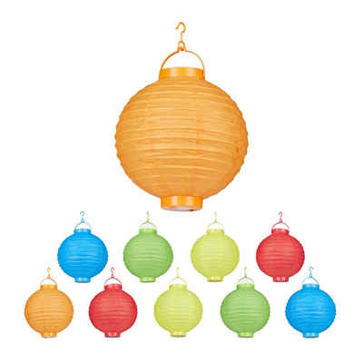 relaxdays LED Lampion »LED Lampions bunt 10 Stück«