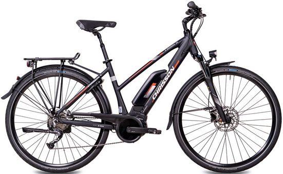 Chrisson E-Bike »E-ROUNDER Damen«, 9 Gang Shimano Alivio RD-M4000-SGS Schaltwerk, Kettenschaltung, Mittelmotor 250 W