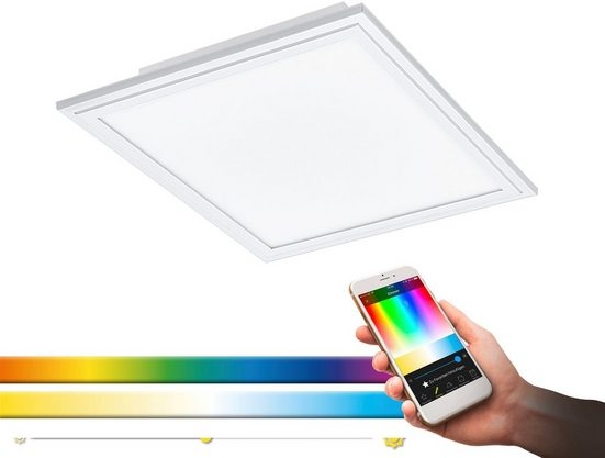 EGLO LED Rasterleuchte »SALOBRENA-C«, EGLO CONNECT, Steuerung über APP + Fernbedienung,BLE, CCT, RGB