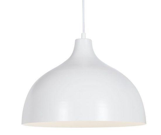 dynamic24 Pendelleuchte, Retro Industrie Hängelampe Decken Pendelleuchte Bar Metall Lampe Schirm weiß