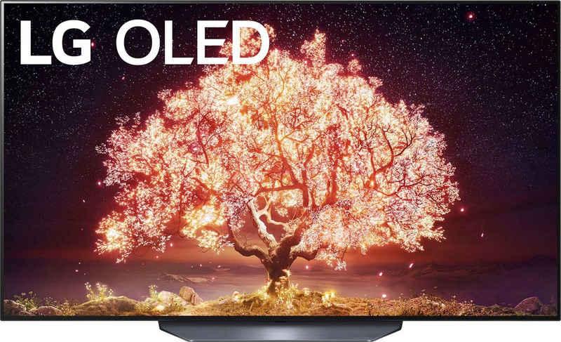 LG OLED77B19LA OLED-Fernseher (195 cm/77 Zoll, 4K Ultra HD, Smart-TV, (bis zu 120Hz), α7 Gen4 4K AI-Prozessor, Twin Triple Tuner, Sprachassistenten, HDMI 2.1)