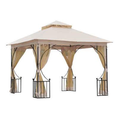 Outsunny Pavillon »Gartenpavillon mit Doppeldach«