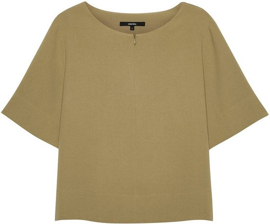 someday Shirtbluse »Zerumea« mit Reißverschluss am Ausschnitt